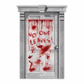 Door Cover Asylum Dripping Blood & Hands