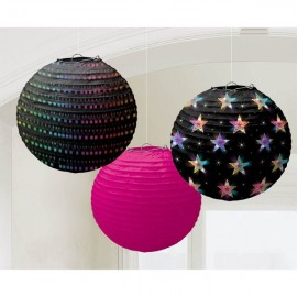 Disco Fever Round Paper Lanterns