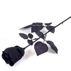 Decoration Black Fabric Rose