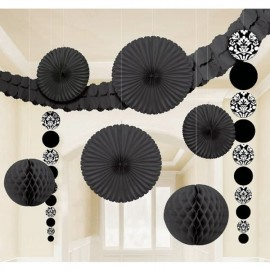 Decorating Kit - Damask Black & White