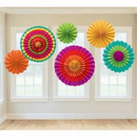 Paper Fans Fiesta Colours