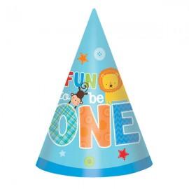 One Wild Boy Cone Hats 1st Birthday