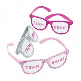 Fun Shades Glasses Team Bride Glittered