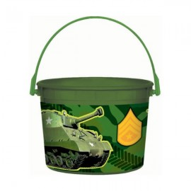 Camouflage Favor Container & Handle