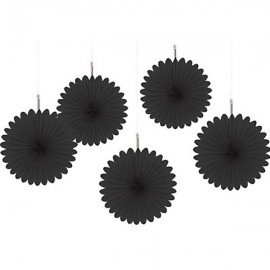 Mini Hanging Fan Decorations Black