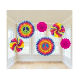 Fan Decorations Tye Dye Feeling Groovy