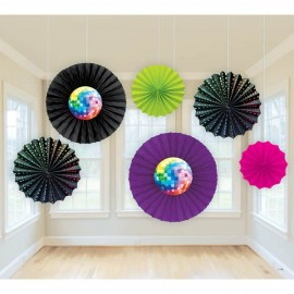 Disco Fever Printed Paper Fans,