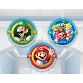 Super Mario Brothers Honeycomb Hanging Decorations