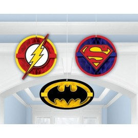Justice League Honeycomb Hanging Decorations