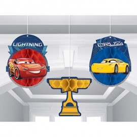 Cars 3 Honeycomb Hanging Decorations