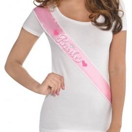 Sash Elegant Bride Pink & Sequins