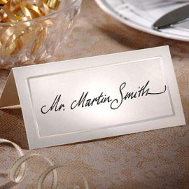 Placecards Pearlized Ivory