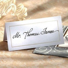 Place Cards Pearlized White