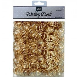 Wedding Bands / Rings Gold Favors Value Pack