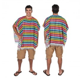 Poncho Fiesta Multi Coloured Serape
