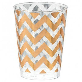 Tumblers Chevron Rose Gold 295ml Hot Stamped