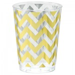 Tumblers Chevron Gold 295ml Hot Stamped