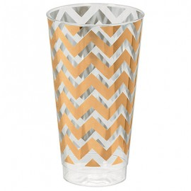 Tumblers Chevron Rose Gold 473ml Hot Stamped