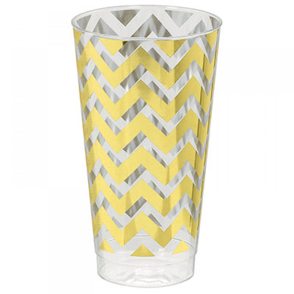 Tumblers Chevron Gold 473ml Hot Stamped
