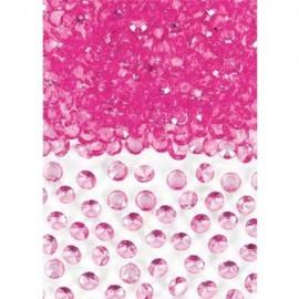 Confetti Gems Bright Pink