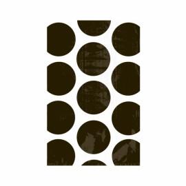 Favor Party Bags Black & White Polka Dots