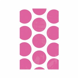Favor Party Bags Bright Pink & White Polka Dots