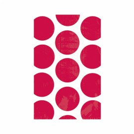 Favor Party Bags Red & White Polka Dots