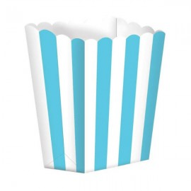 Favor Party  Boxes Robin's Egg Blue  & White Stripes