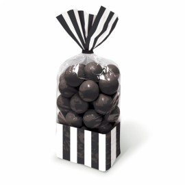 Favor Cello Party Bags Black & White Stripes