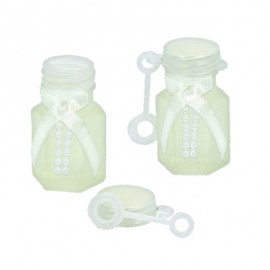 Bubbles Wedding Favors with Ribbon & Beads