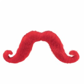 Moustache Red - Handlebar Style