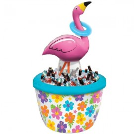 Inflatable Flamingo Drink Cooler & Ring Toss Game
