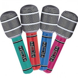 Inflatable Microphones Mixed Colours,