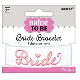 Bride to Be Elegant Bracelet Pink Glitter