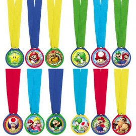 Super Mario Brothers Mini Award Medals