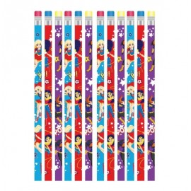 Super Hero Girls Pencils & Eraser End
