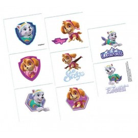 Paw Patrol Girls Tattoos Assorted Designs