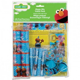Sesame Street Mega Mix Favors Value Pack 48 Pieces