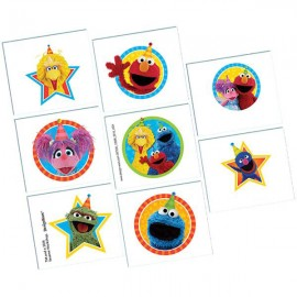 Sesame Street Tattoos Assorted Designs