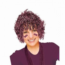 Wig Fun Burgundy Tinsel