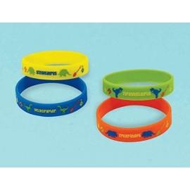 Prehistoric Dinosaurs Rubber Bracelets Favors