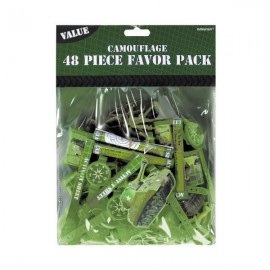 Camouflage Favor Pack 48 Pieces