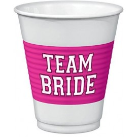 Team Bride Large Plastic Cups 473ml