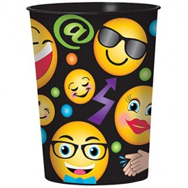 LOL Emoji Plastic Souvenir Cup Smiley Faces