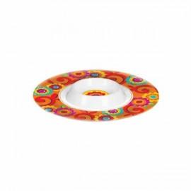 Fiesta Chip & Dip Bowl Plastic