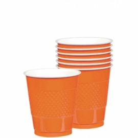 Cups Orange Peel 355ml Plastic
