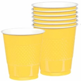 Cups Yellow Sunshine 355ml Plastic