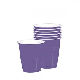 Cups New Purple 355ml Plastic