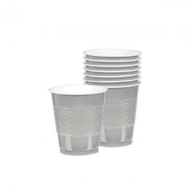 Cups Silver 355ml Plastic
