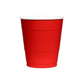 Cups Apple Red 355ml Plastic